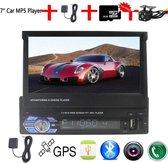 1 Din radio AUTOMATISCH uitklapscherm navigatie systeem + gratis achteruitrij camera + gra