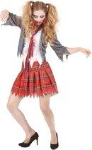 LUCIDA - Bebloed Zombie schoolmeisje kostuum voor vrouwen - Volwassenen kostuums