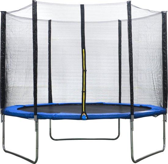 Trampoline met veiligheidsnet 244 cm Blauw
