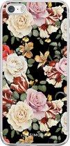iPhone 5/5S/SE hoesje siliconen - Bloemen flowerpower   Apple iPhone 5/5s/SE case   TPU backcover transparant