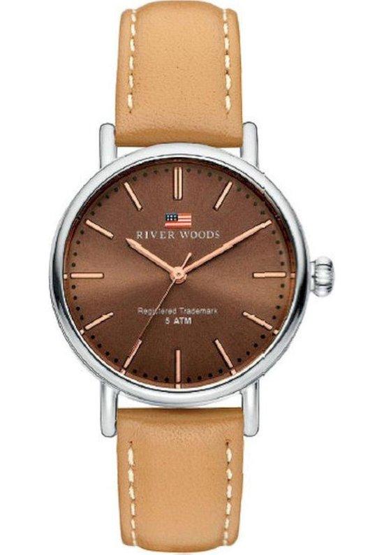 River Woods Oswego RW340017 Horloge – Leer – Bruin – Ø 34 mm