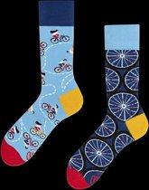 Toffe Sokken - Gekke Sokken - Leuke Sokken - The bicycles - Maat: 35 t/m 38