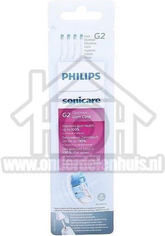 Philips Sonicare G2 Optimal Gum Care HX9034/10 - Opzetborstels - 4 stuks