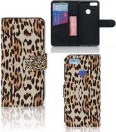 Xiaomi Mi A1 Telefoonhoesje met Pasjes Leopard