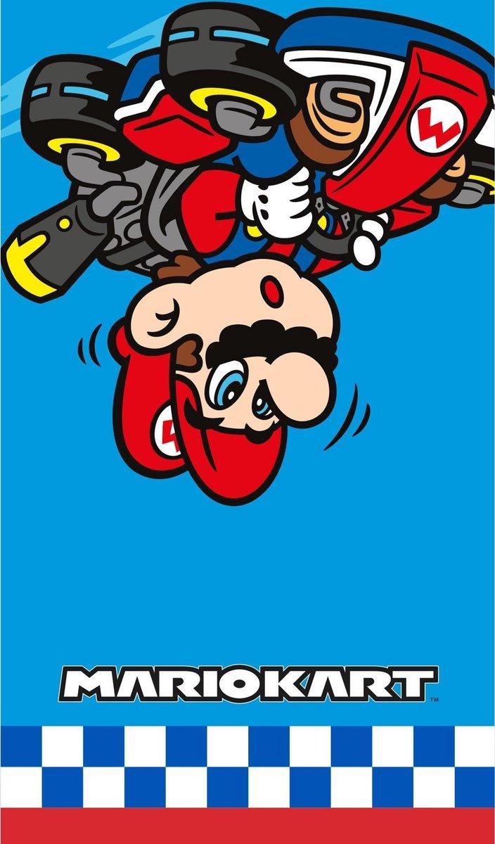 Nintendo Super Mario kart strandlaken/badlaken - Zwemhanddoeken/strandlakens/badlakens/handoeken voo