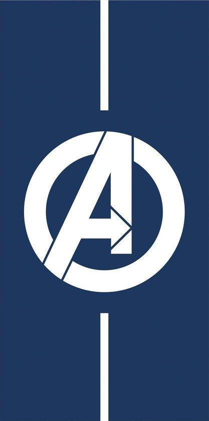 Marvel Avengers Strandlaken Logo - 75 x 150 cm - Blauw