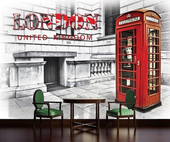 Fotobehang Vlies | Engeland, London | Rood | 368x254cm (bxh)
