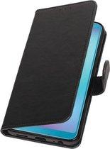 Pull Up Bookstyle voor Samsung Galaxy A6s Zwart