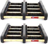 2x Schoenvegers / schoenen borstelmatten 35 x 27 cm - voetenveger / schoenveegmatten / deurmatten