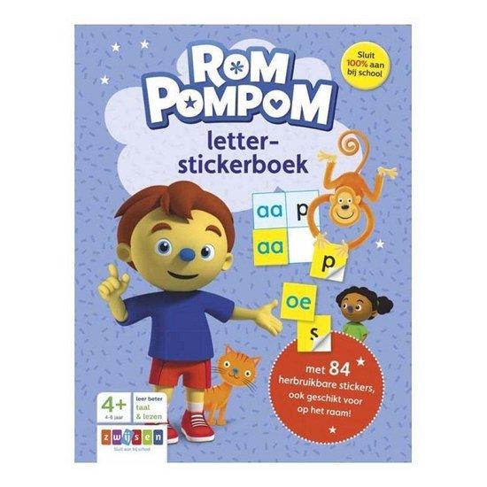 Rompompom - Rompompom letter-stickerboek - Diverse auteurs |