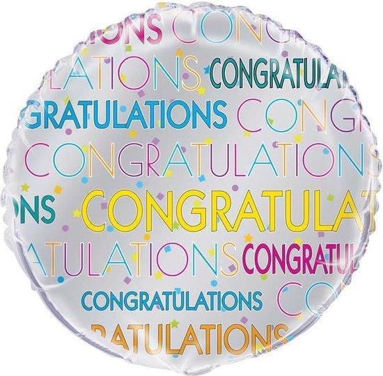 Haza Original Folieballon Congratulations 45 Cm