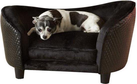 Enchanted hondenmand sofa ultra pluche snuggle wicker bruin (68X41X38 CM)