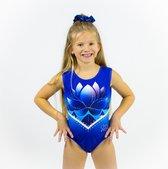Sparkle&Dream Turnpakje / Gympakje Yara Blauw - INT | maat 110 - 116 - voor turnen en gymnastiek