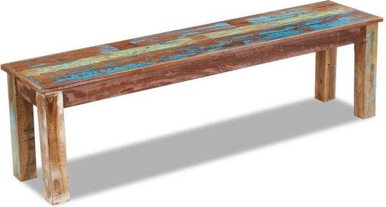 Bank 160x35x46 cm massief gerecycled hout - vidaXL