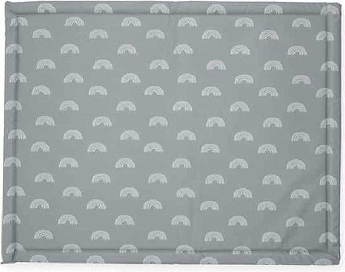 Jollein Boxkleed - 75 x 95 cm - Rainbow - Grey