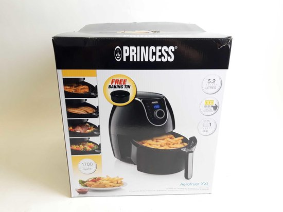 Princess 182055 Digital Family Aerofryer XXL - Heteluchtfriteuse