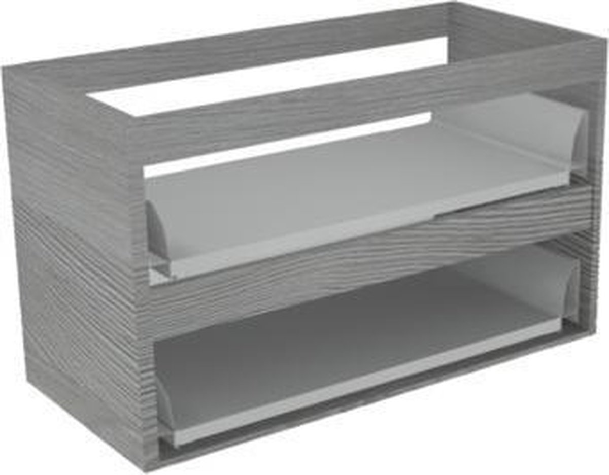 Royal plaza Merlot wastafelonderkast z/fronten 2 la 70x52 essen grijs