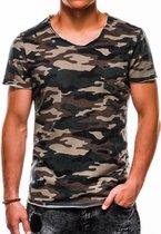 Heren - T-shirt - Camouflage - Groen