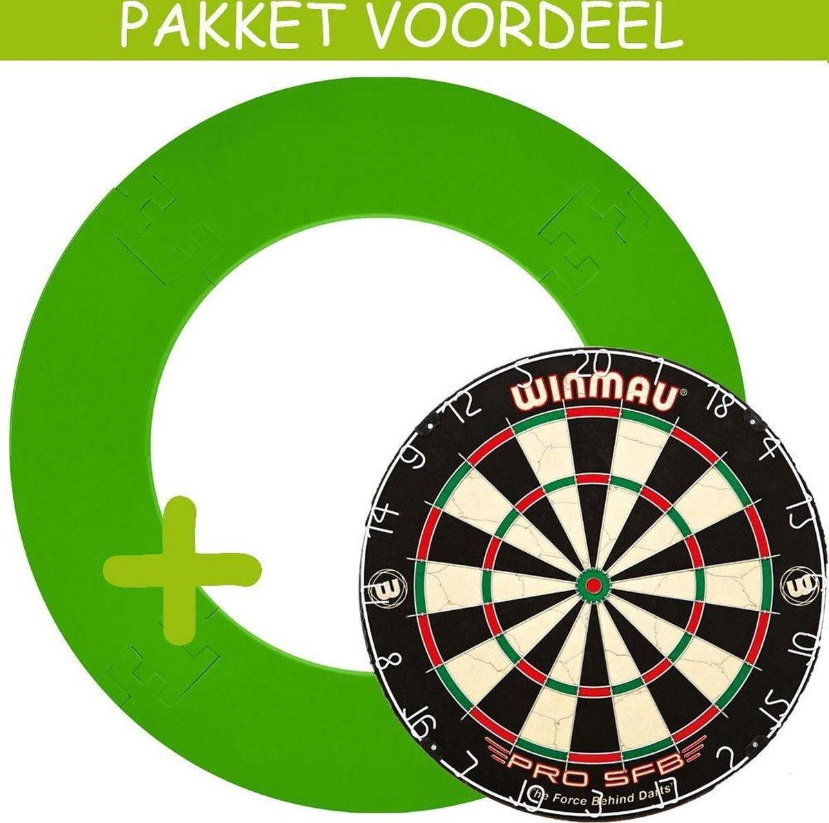 Dartbord Surround VoordeelPakket - Pro SFB - EVA Surround-- (Groen)