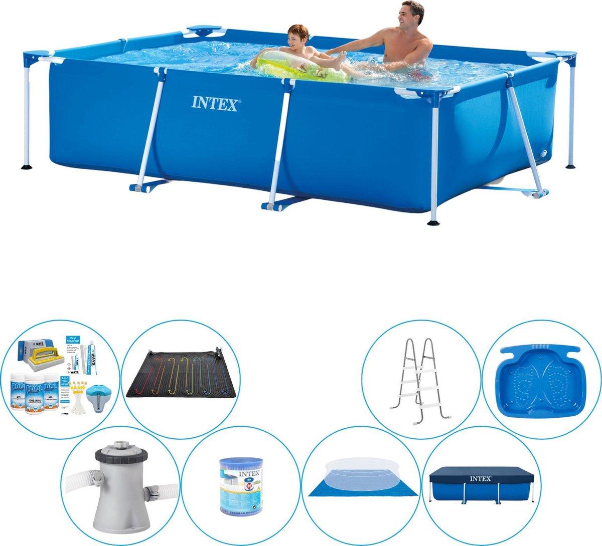 Intex Rechthoekig Zwembad - 260 x 160 x 65 cm - Inclusief alle benodigdheden