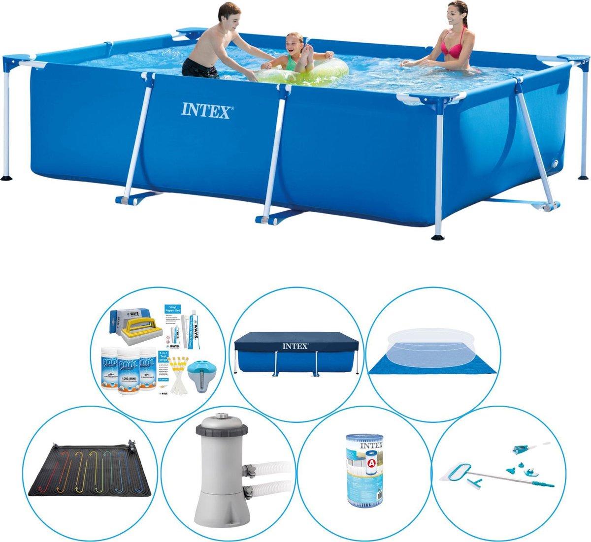Intex Prism Frame Pool - Opzet Zwembad - ⌀ 366 x 99 cm - Voordeelset