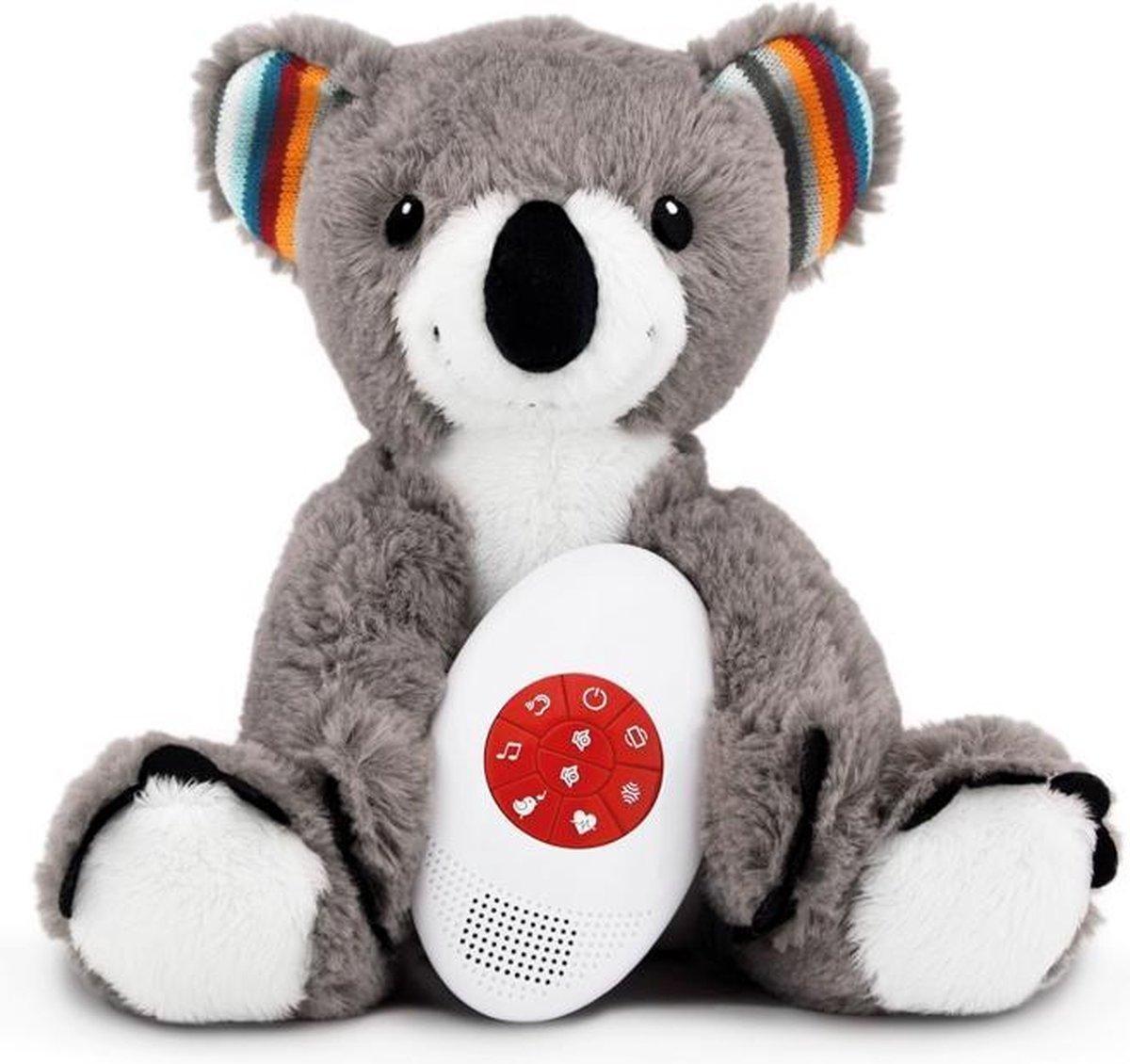 Zazu - Coco de Koala  - Hartslagknuffel - Muziek knuffel met huilsensor - Deze leuke muziek & hartslagknuffel is heerlijk zacht en door de uitneembare geluidsmodule ook wasbaar! - Genomineerd voor Baby Product van het Jaar