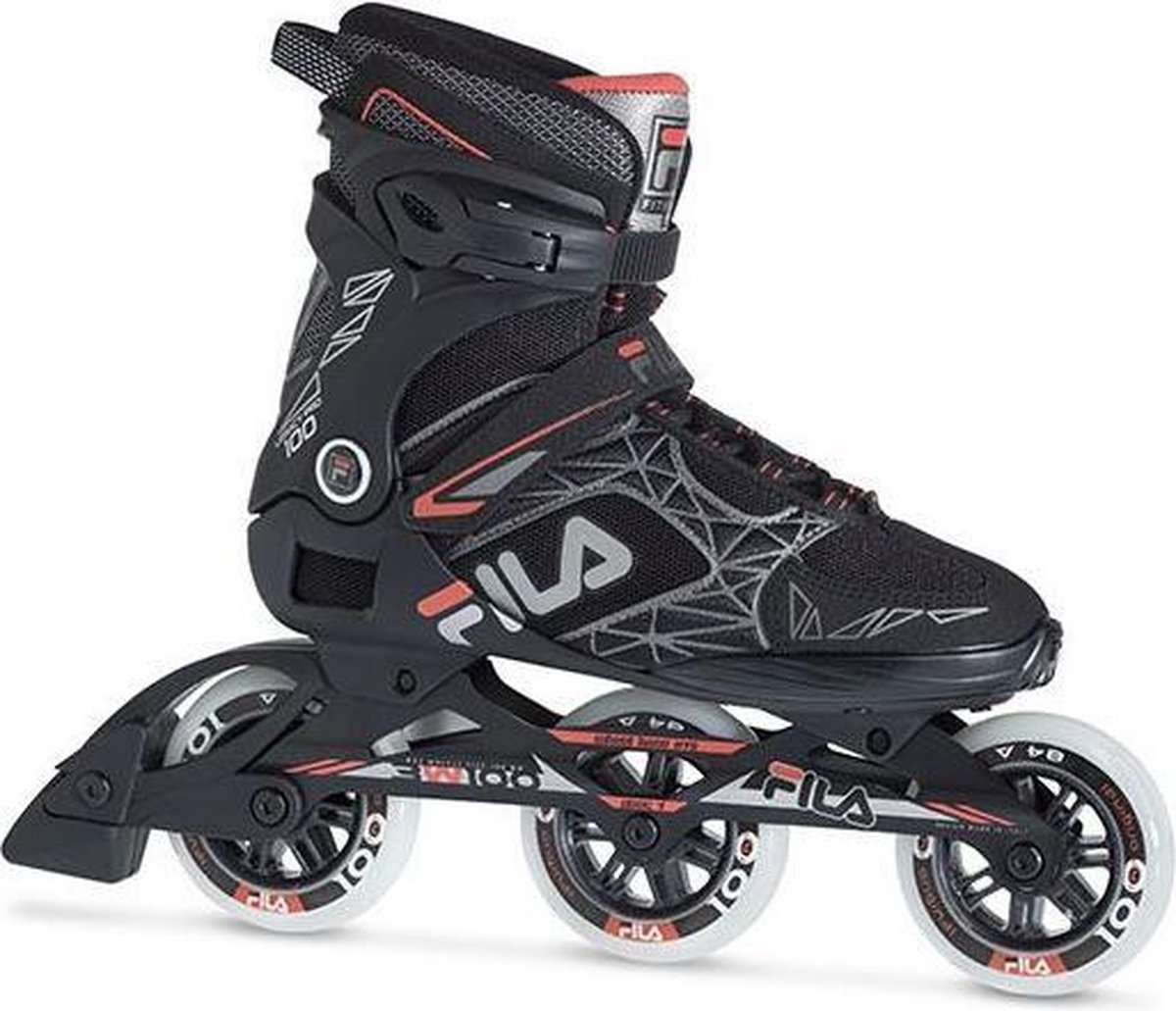 Fila Legacy pro inline skates 100 mm black red