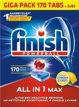 Finish All in 1 Max Citroen Vaatwastabletten - 170 Tabs - Voordeelverpakking