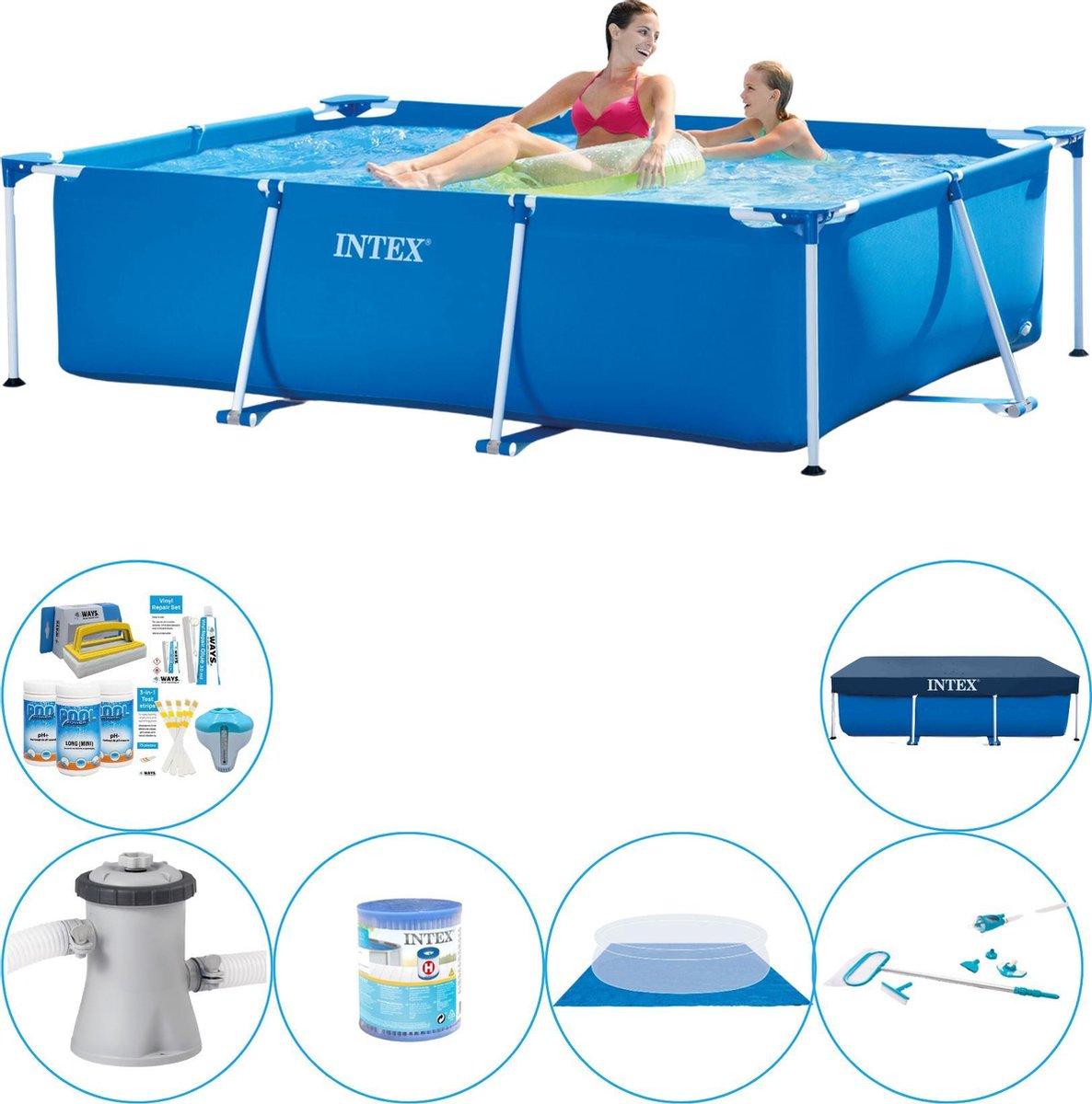 Intex Frame Pool Rechthoekig 220x150x60 cm - Zwembad Met Accessoires