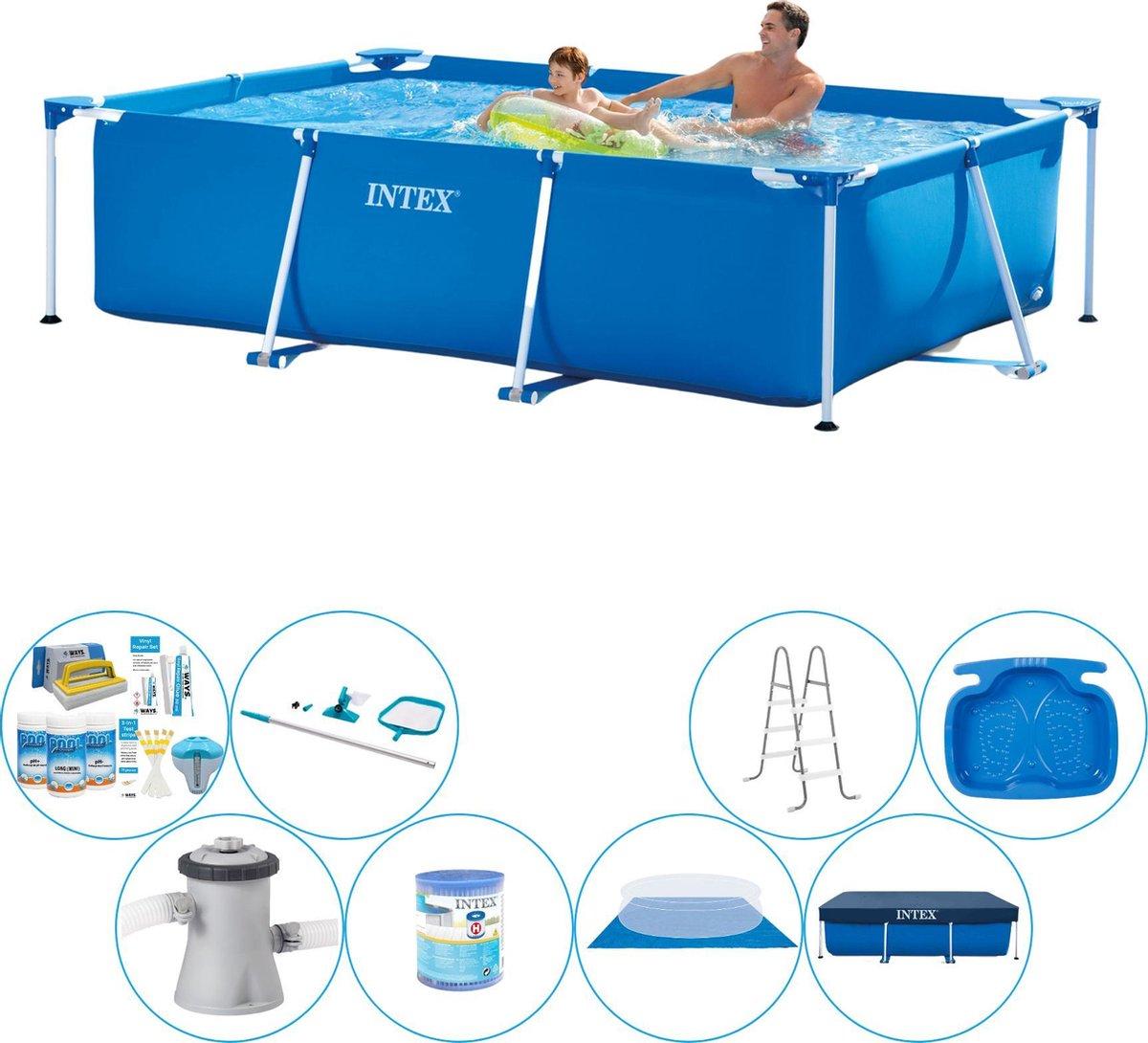 Intex Frame Pool Rechthoekig 260x160x65 cm - Zwembad Bundel