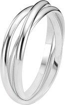 Lucardi - Zilveren driedelige ring