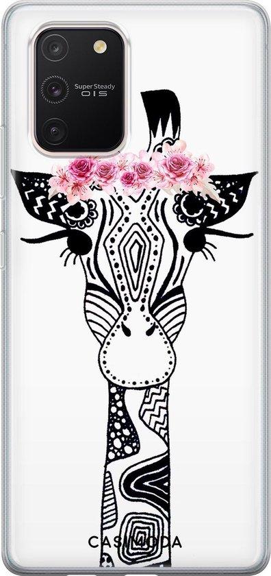 Samsung Galaxy S10 Lite siliconen telefoonhoesje - Giraffe