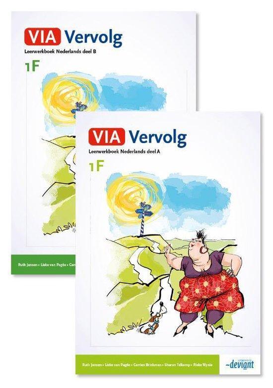Boek cover VIA vervolg 1F - Leerwerkboek deel A + B van  (Paperback)
