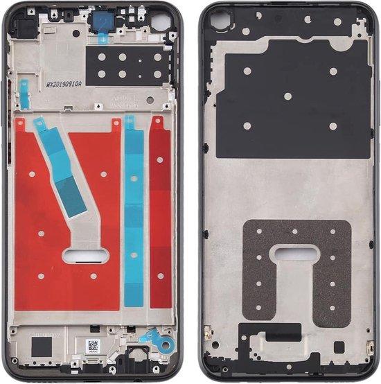 Originele middenkaderring voor Huawei P40 Lite E / Enjoy 10 (zwart)