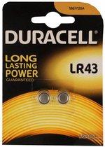Duracell LR43 Alkaline Batterijen - 2 stuks