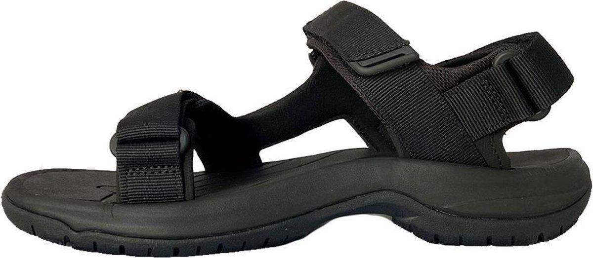Teva Tanway Leather Heren Sandalen Zwart Maat 42