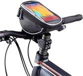 Fiets Stuurtas Met Smartphone Houder - Fiets Stuur Telefoonhouder Tas - Large