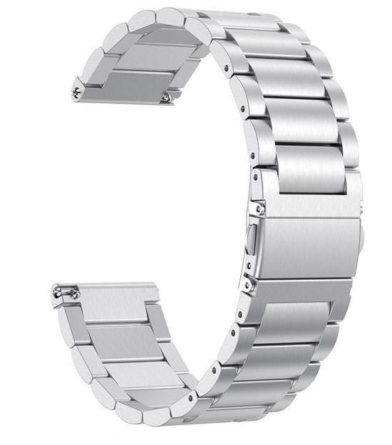 Metaal schakel bandje Zilver geschikt voor Fitbit Versa (Lite)
