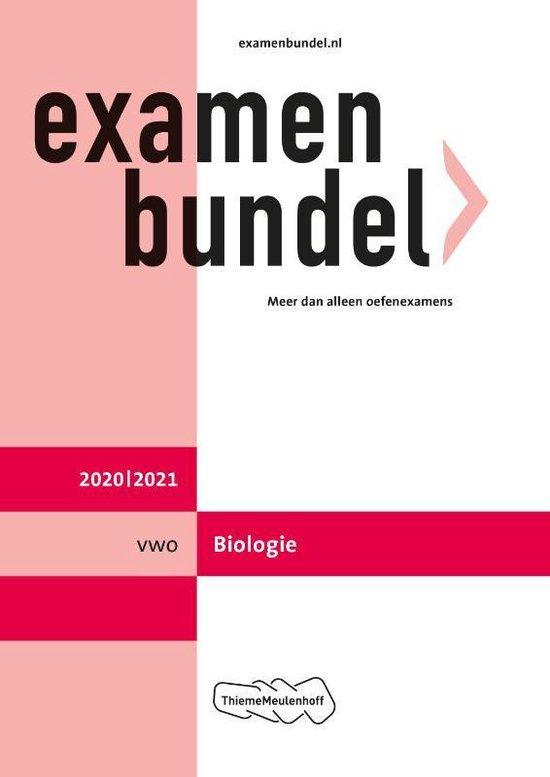 Examenbundel vwo Biologie 2020/2021