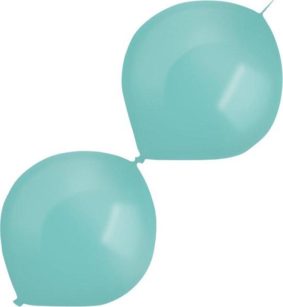Amscan Slingerballonnen Parel 30 Cm Latex Turquoise 50 Stuks