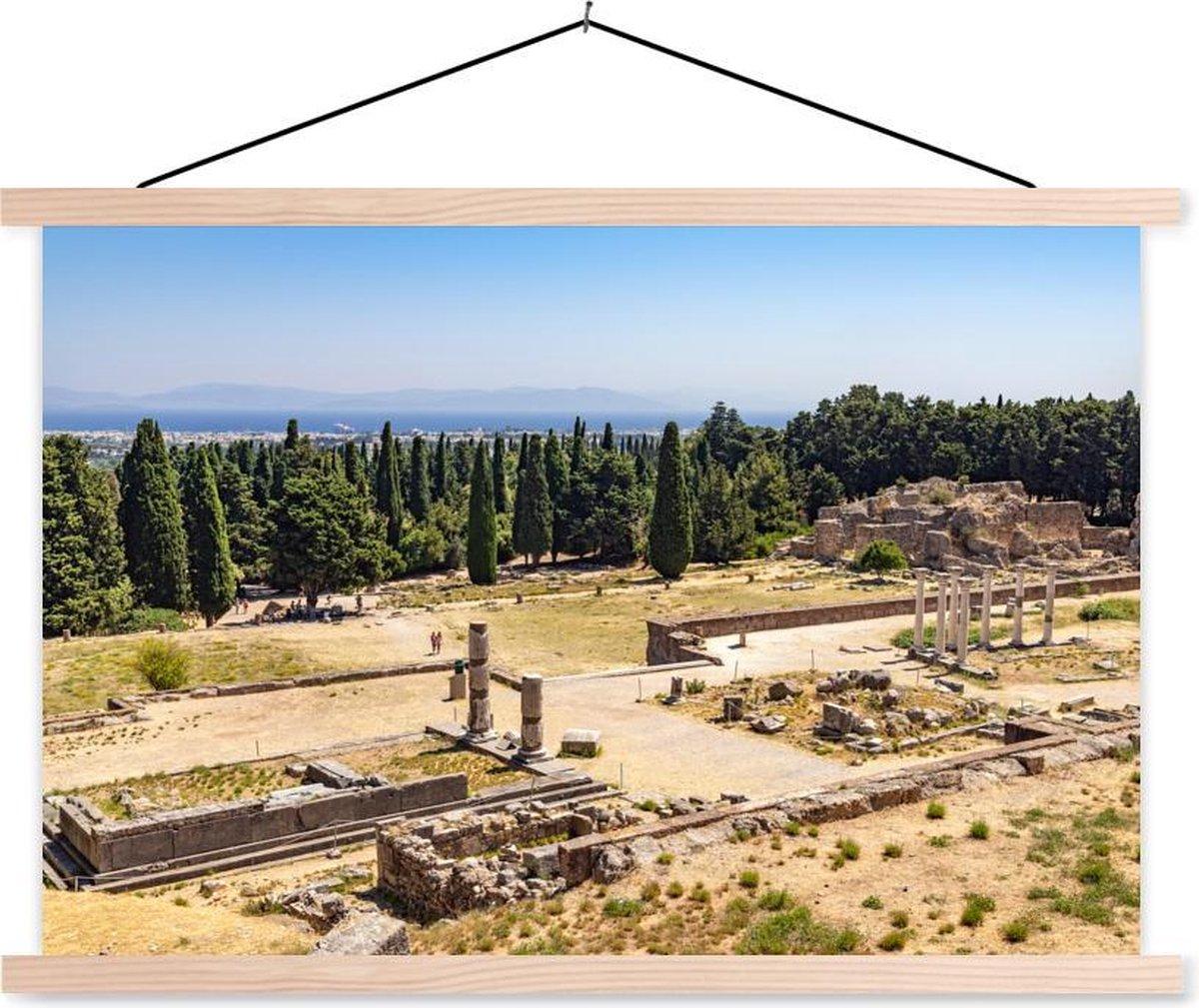 Oude Asclepeion op het Griekse eiland Kos schoolplaat platte latten blank 60x40 cm - Foto print op textielposter (wanddecoratie woonkamer/slaapkamer)