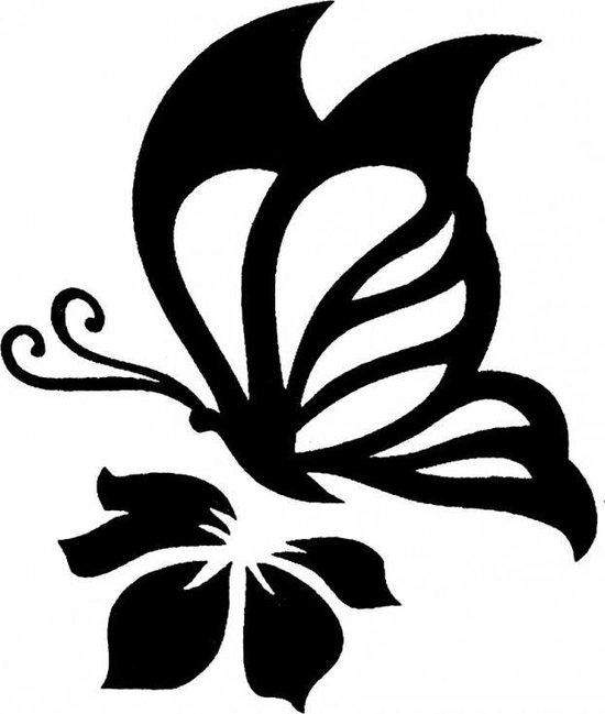Bloem tattoo vlinder Vlinder tattoo