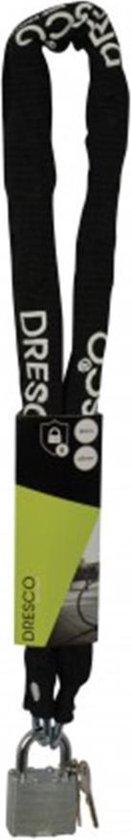 Dresco Kettingslot 90cm - Rond 5mm - Zwart