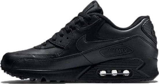 Nike Air Max 90 Leather Sneakers Heren - Black/Black ...