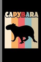 Capybara: Animals Gift For Veterinarian (6''x9'') Dot Grid Notebook To Write In