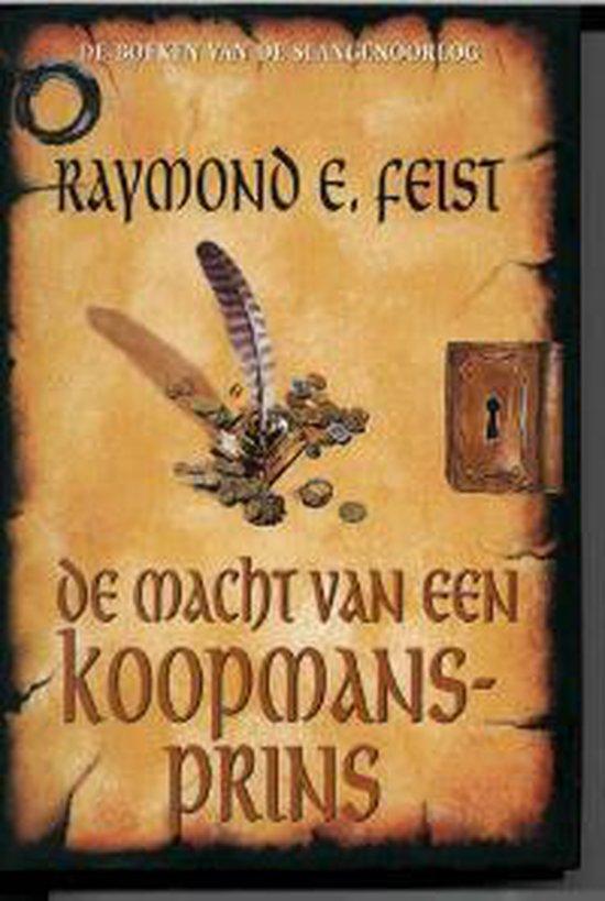 Cover van het boek 'De macht van een koopmansprins' van Raymond E. Feist