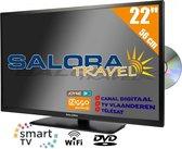 Salora Travel TV 22 inch LED9109CTS2 tv 56 cm (22'') 12 en 230 Volt HD Satelliet Smart Wi-Fi DVD