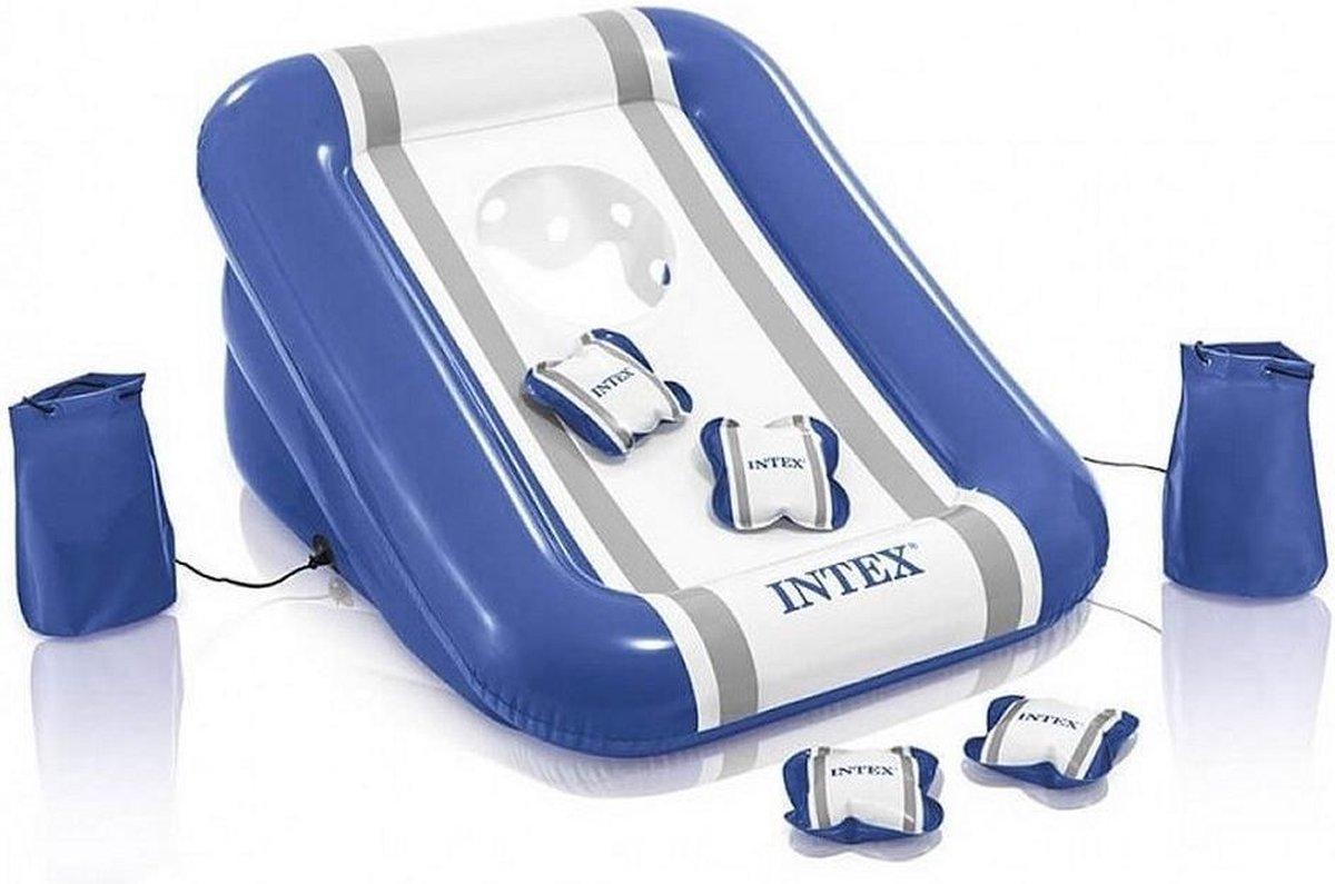 Intex Opblaasbaar Werpspel 86 X 81 X 42 Blauw/wit