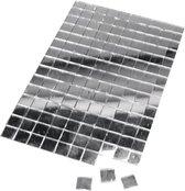 150x Zilveren spiegel mozaiek steentjes zelfklevend - Hobby materialen - Mozaieken maken knutselen