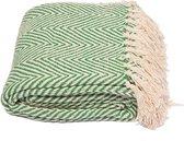 Yoga deken / meditatie deken visgraat groen